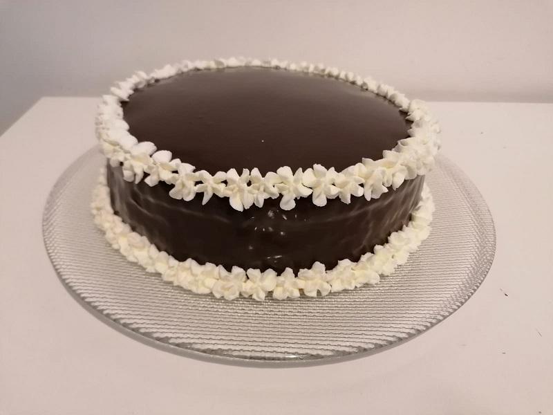 Torta Moretta con ganache al cioccolato fondente